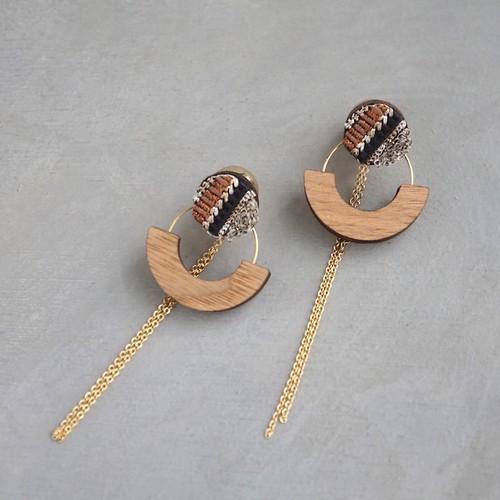 pierced earrings C-P42/earrings C-E42<gold>