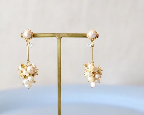 Lady drop flower pierce/earring