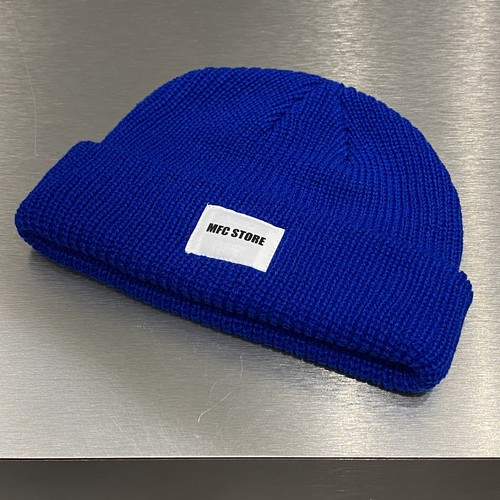 MFC STORE WHITE TAG LOGO LOW WATCH CAP / BLUE