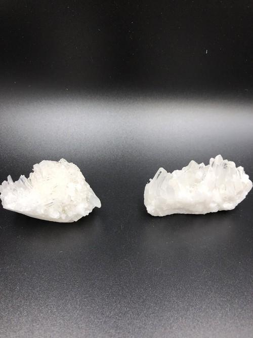 161 水晶 原石 クラスター 2点セット