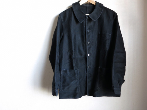 1950's Black Moleskin Jacket