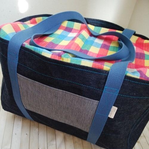 Mサイズ 岡山デニムのキャリーケースバッグ
