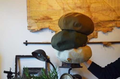 THUMBS UP MARKET×punctuation HAT Wネーム US ARMY beret
