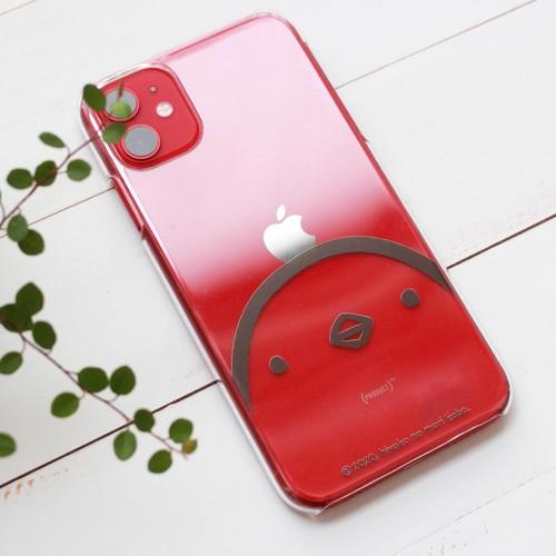 iPhone11シリーズ用ケース 頭にりんごを載せるひよこさん