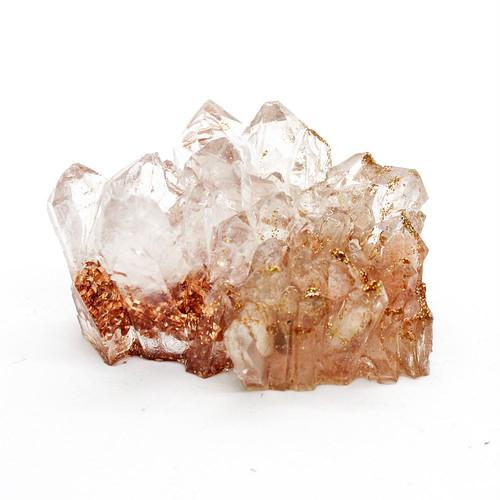 水晶クラスター型オルゴナイト サンストーン