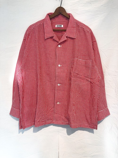 Old ISSEY MIYAKE Open Collar Gingham Check Shirt