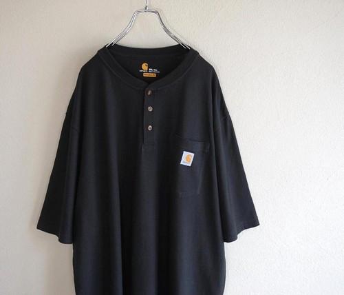 [carhartt] ヘンリーネック ポケットTシャツ ブラック 表記(2XL TALL) カーハート