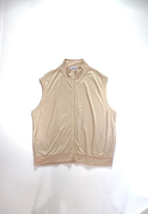 shiny zip-tp vest