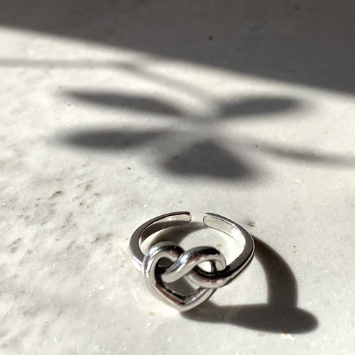 Heart knot Ring_Silver925