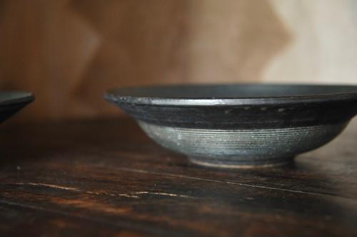 0455 沖誠 緑 8寸リム鉢