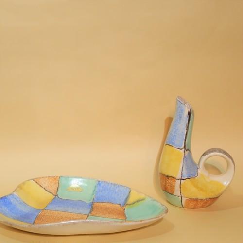 --Strehla--Vase&Dish