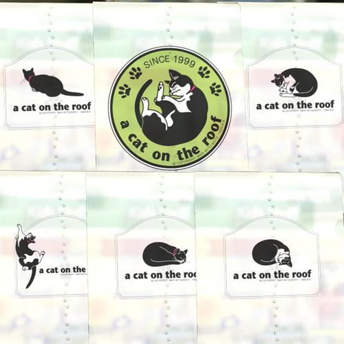 白黒猫クリアファイル-SP入6枚セット