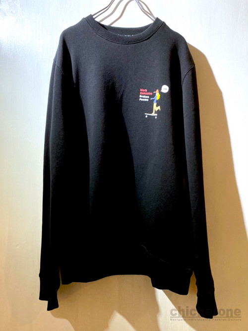 【MARK GONZALES】GIRL crew neck BLACK