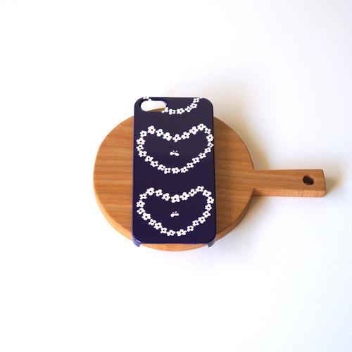 humming heart ( deep blue ) スマホケース - S / M サイズ 【受注生産】