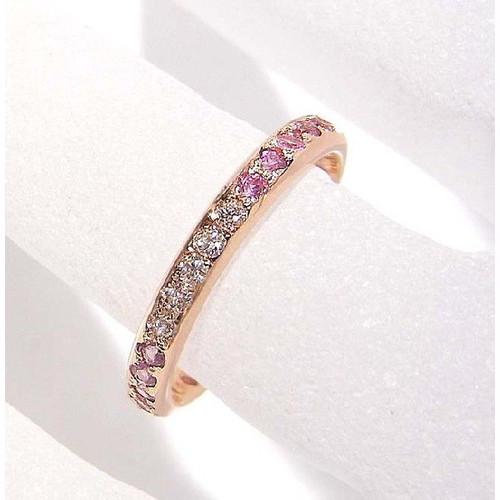 18Kピンクゴールド ダイヤモンド ピンクサファイヤ エタニティリング