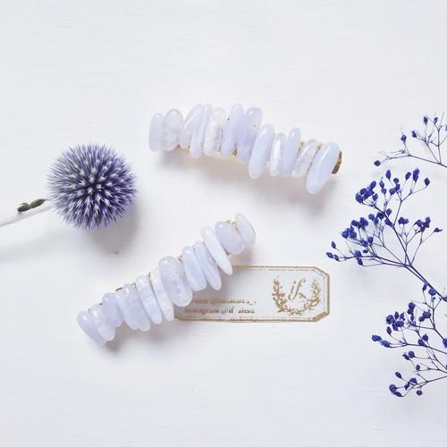 【CREA掲載】Bluelace agates barretta