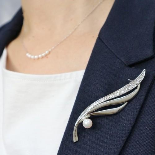 【再販】アコヤパールブローチ④(7.5mm珠)
