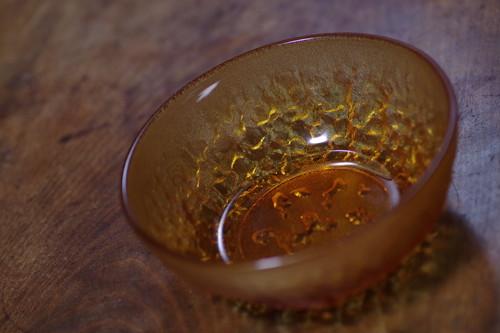 アンバーガラス サラダボウル 飴色 アイスクリームカップ 小鉢 昭和レトロと古道具のフルハコ屋