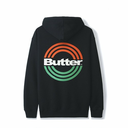 BUTTER GOODS 【STAMP PULLOVER, BLACK】