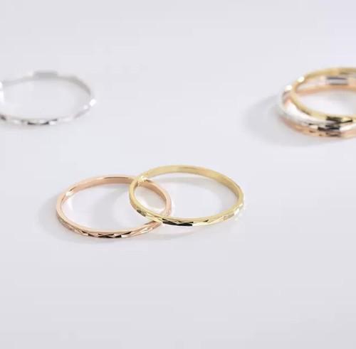 Multifaceted silver Ring 色&サイズ選べる!
