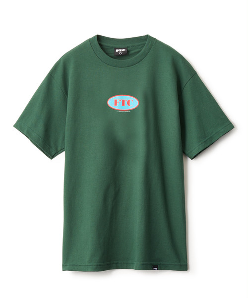 FTC(エフティーシー) / OVAL LOGO TEE -DARK GREEN-