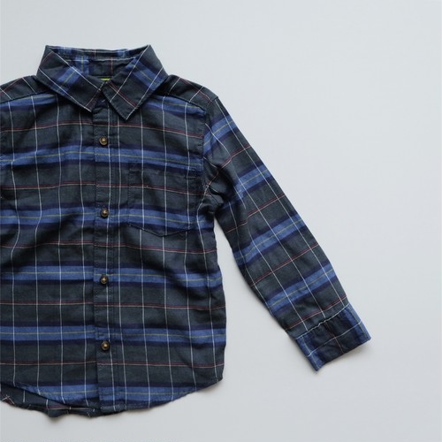 6月末まで期間限定15%OFF <US USED>Carter's Green Plaid Cotton Shirt size 3T