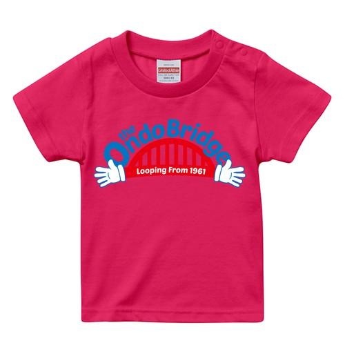 ON DO BRIDGE HANDS KIDS T-SHIRTS 子供トロピカルピンク