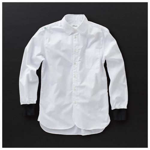メンズ ロングシャツ 白×黒