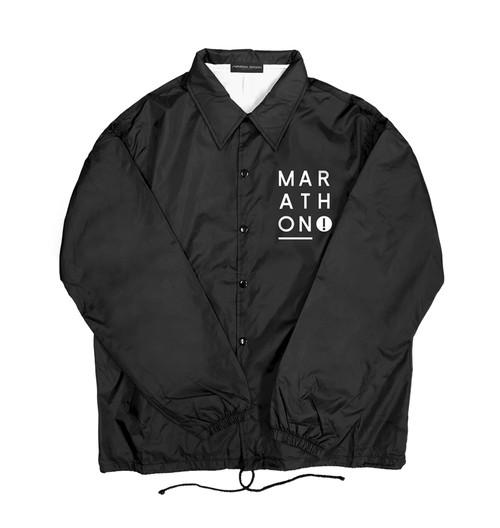 NYLON COACH JACKET M381121-BLACK/ コーチジャケット MARATHON JACKSON マラソン ジャクソン