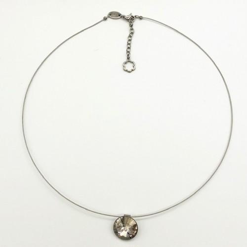 チョーカー ネックレス 一粒石 シルバーシェード KRiKOR ドイツ製 Choker Necklace One Grain Stone Silver Shade