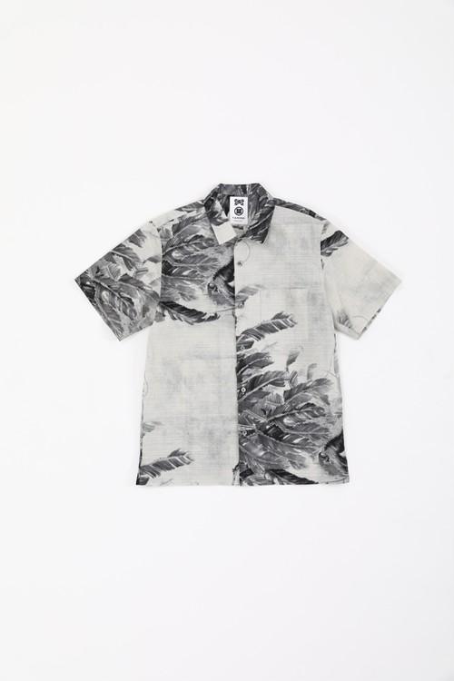 オープンカラー半袖シャツ / 伊藤若冲 / 月夜芭蕉図
