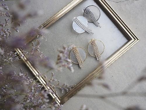 swarovski shell pierce/earrings