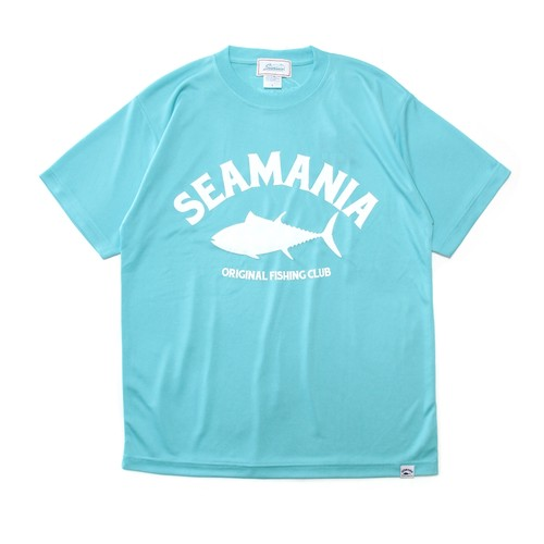 【Seamania】アーチロゴデザインdryTシャツ [AQUA]