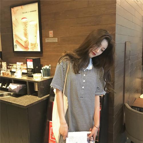 ♡collar stripe dress 5724
