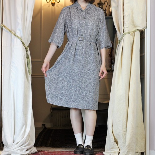 RETRO VINTAGE PATTERNED ALL OVER HALF SLEEVE ONE PIECE /レトロ古着総柄半袖ワンピース