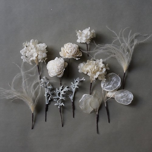 flower hair pins / ヘアード / 髪飾り