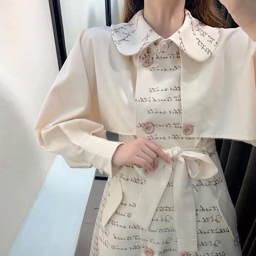 【ワンピース】小さな冷たい風のフロスティ女性の高品質の春のドレスの改良版27507035