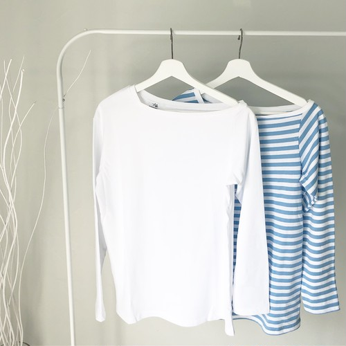 【loose long tee】white