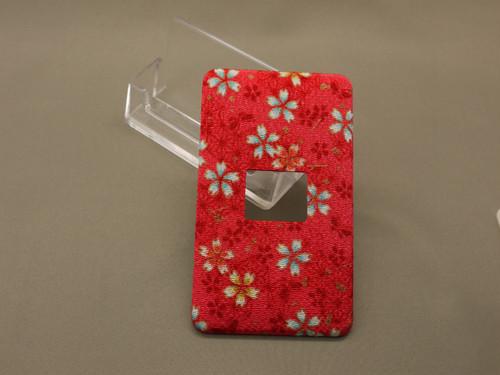 赤色桜小柄 1個用スイッチプレート