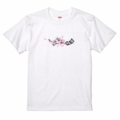 Cherry blossom paint Tee 桜絵の具 Tシャツ