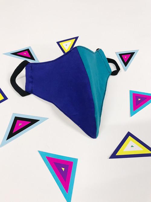 BEAKバイカラー 立体マウスシェード (blue)