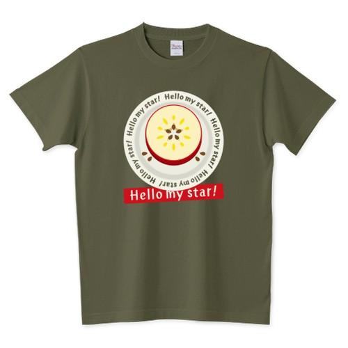 CT105 輪切りのリンゴD*bg / 5.6オンスTシャツ (Printstar)