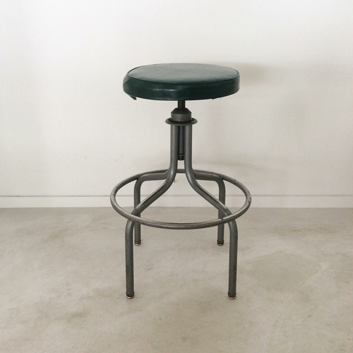 Mid-Century Industrial Stool【STEALCASE】