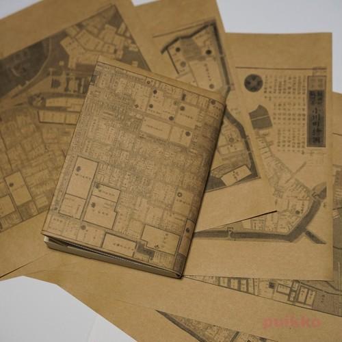 紙製ブックカバー 江戸切絵図