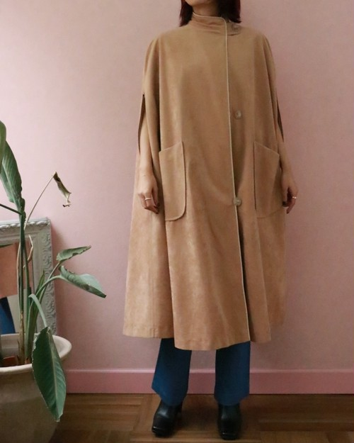 70's beige cape coat