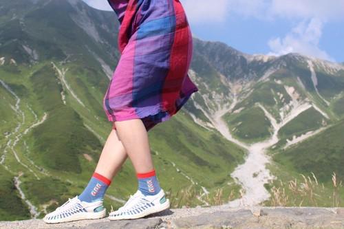【エチラオチラ】チェックリストの靴下