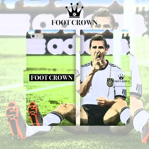 FOOT CROWN 限定 手帳型 スマホケース クローゼ ドイツ代表デザイン iphone全機種対応