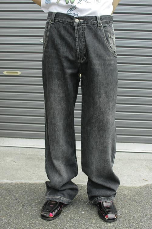 Switch Pattern Denim Pants