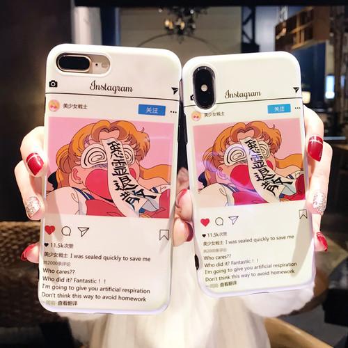 ORIGIANL 美少女戦士セーラームーン かわいい iphone8/7/6sケース オシャレ ブルーレイ アイフォンXケース INS 大流行 個性 iPhone7Plusカバー