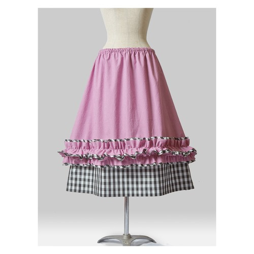 Layered Check Skirt B